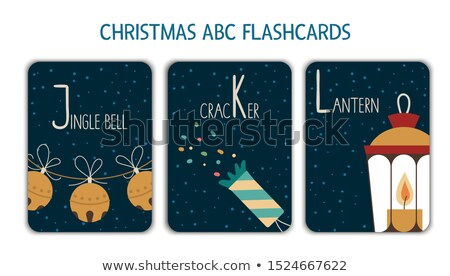 Flashcard alphabet L is for lantern Stock photo © bluering
