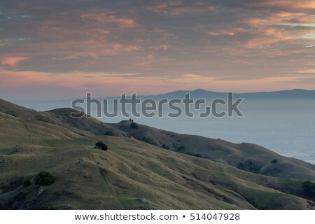 san francisco east bay sunset looking south west stock photo © yhelfman