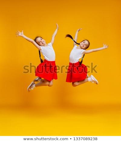 Güzellik portre ikizler moda stüdyo Stok fotoğraf © NeonShot