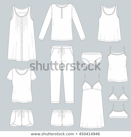 ночная рубашка бежевый белый девушки Sexy Сток-фото © RuslanOmega