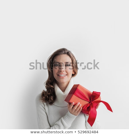 Pretty decorated Christmas gift with ribbon Stock photo © ozgur