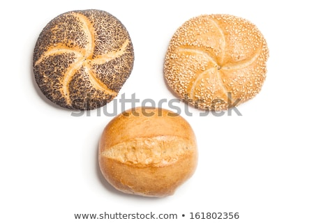 白パン · ケシ · 孤立した · 白 · 食品 · 写真 - ストックフォト © 5xinc