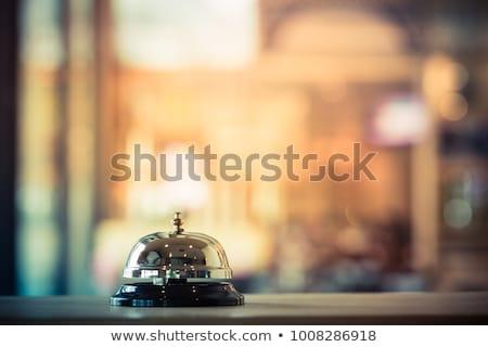 Foto stock: Hotel · recepção · sino · foco · secretária