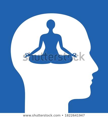 Moc jogi medytacji eps wektora pliku Zdjęcia stock © beholdereye