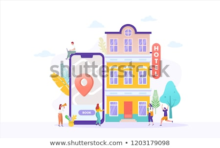 Young woman in online hotel booking concept Stock photo © Elnur