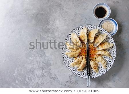 Blauw eetstokjes kom paar lege chinese Stockfoto © Digifoodstock