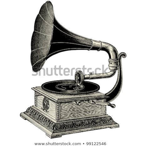 Vintage gramofone musical isolado madeira projeto Foto stock © IMaster