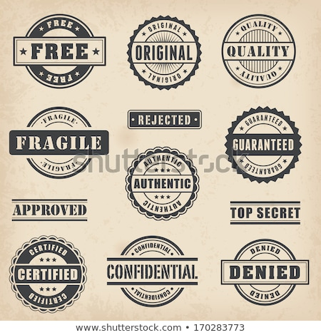 fragile rubber stamp in vector Stock photo © SArts