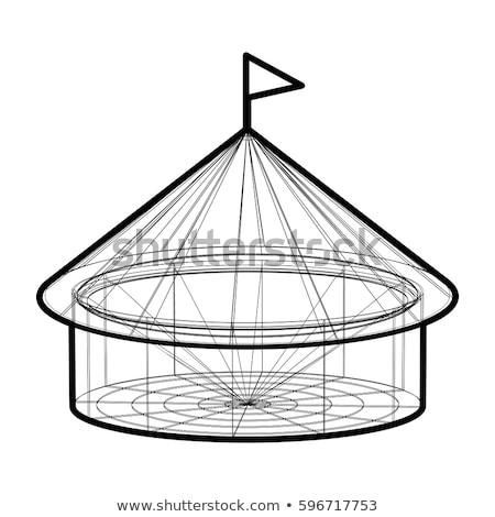 вектора цирка палатки Черно-белые форме белый Сток-фото © m_pavlov