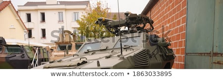 military vehicle with rockets armoured truck stock photo © robuart