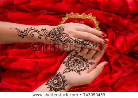 henna · tattoo · mandala · ornament - stockfoto © frescomovie