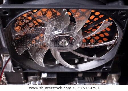 вентилятор · ноутбука · деловая · женщина · черный · автомобилей · девушки - Сток-фото © artfotoss