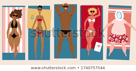 Lying on the beach. Stock photo © Fisher