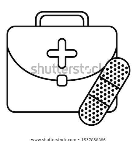 Band Aid and Medical Services Icon. Flat Design. Stock photo © WaD