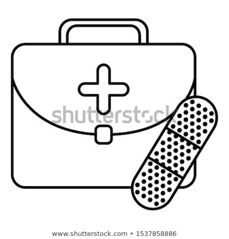 Bande aide médicaux services icône design Photo stock © WaD