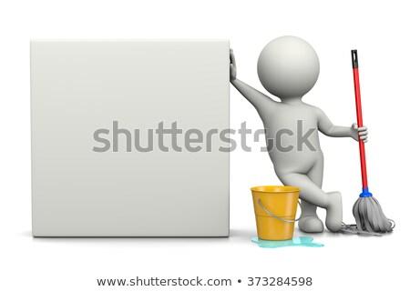 Bianco 3D carattere bill illustrazione sfondo Foto d'archivio © make