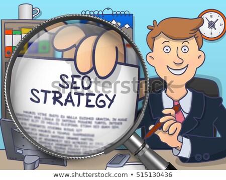 strategy through lens doodle design stock photo © tashatuvango