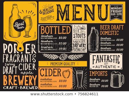 beber · quartilho · cerveja · cartaz · vidro - foto stock © dimpens