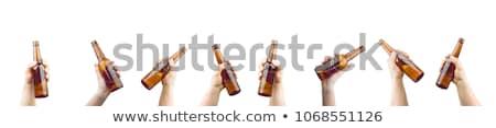 marrón · alcohol · botella · aislado · blanco · vector - foto stock © studiostoks