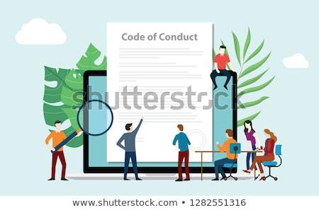 business ethics concept on laptop screen stock photo © tashatuvango
