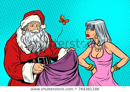 Stock photo: Santa Claus without gifts and angry woman