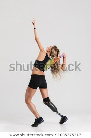 強い スポーツウーマン スポーツ グレー 写真 ストックフォト © deandrobot