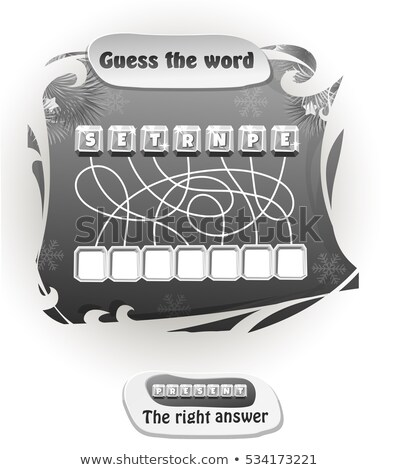 guess the word present black and white  Stock photo © Olena