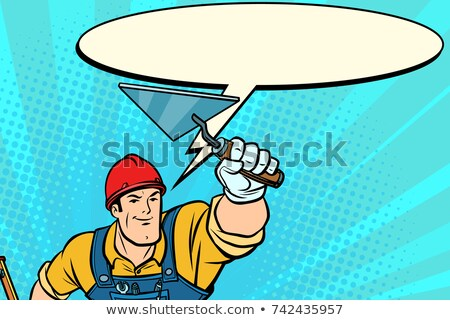 superhero builder professional comic bubble stock photo © rogistok