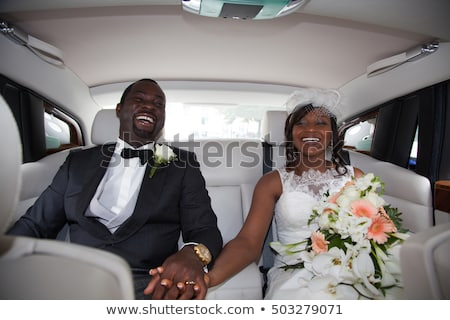 Wedding couple in car Stock photo © IS2
