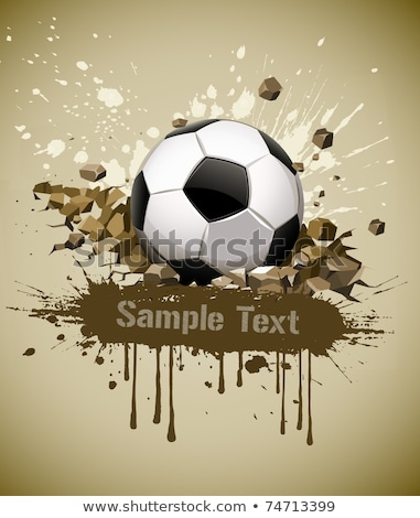 grunge football soccer ball falling on ground stock photo © loopall
