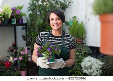 肖像 幸せ 女性 植物 庭園 草 ストックフォト © wavebreak_media