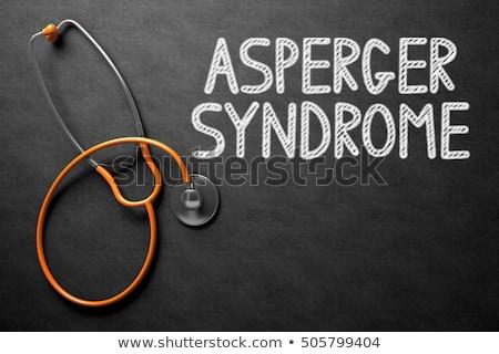 Autismus handschriftlich Tafel 3D-Darstellung medizinischen schwarz Stock foto © tashatuvango