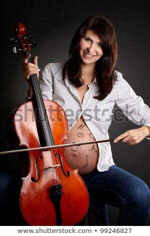 spelen · cello · speler - stockfoto © is2