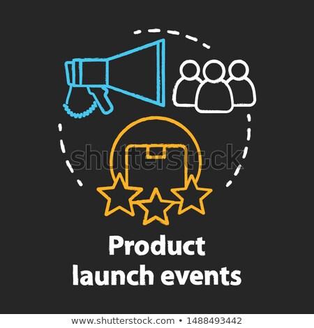 new customers concept doodle icons on chalkboard stock photo © tashatuvango