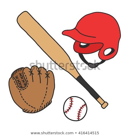 Baseball ütő labda közelkép lövés baseball felszerlés Stock fotó © LightFieldStudios