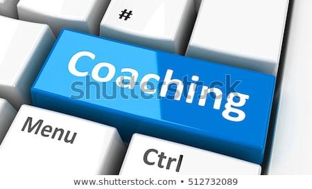 キーボード 青 キー 生活 コーチング 現代 ストックフォト © tashatuvango