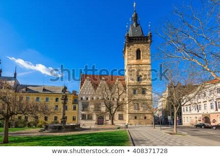 старые · новых · синагога · Прага · ратуша · Чешская · республика - Сток-фото © tuulijumala