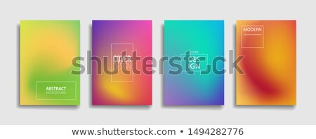yellow fluid color mesh background design poster template Stock photo © SArts