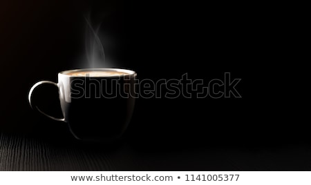 Cups of coffee on dark wooden background. Stock photo © artsvitlyna
