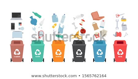 Rubbish bin for glass waste vector illustration. Stock photo © RAStudio