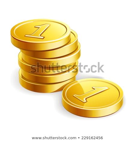 Izometrikus arany érmék izolált ikon rajz Stock fotó © studioworkstock