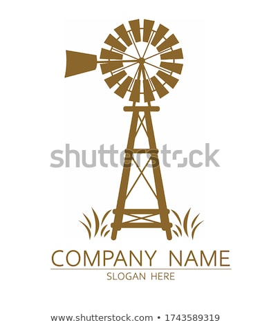 Traditional old windmill on nature background stock photo © studioworkstock