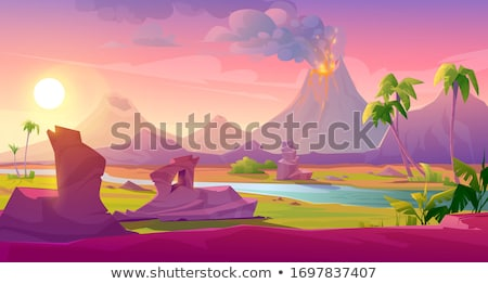 Crater in the tropics Stock photo © wildnerdpix