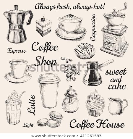 hand drawn vintage coffee grinder Stock photo © balasoiu