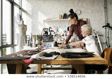 Woman working in fashion design studio stock photo © diego_cervo