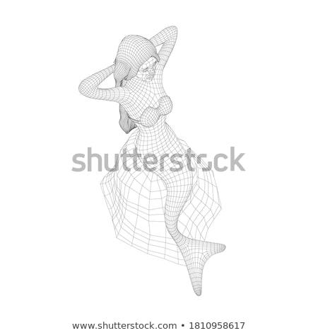 Sereia isométrica subaquático bela mulher vetor peixe Foto stock © popaukropa