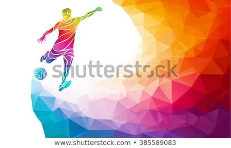 vektör · karikatür · siluet · futbol · spor - stok fotoğraf © krisdog