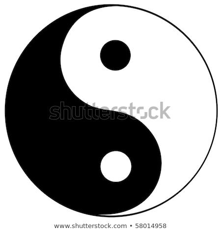 Stock fotó: Szimbólum · harmónia · egyensúly · felirat · fekete · ázsiai