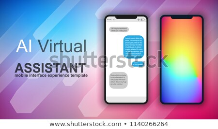 brochure layout mobile ai artificial intelligent chat bot suppor stock photo © davidarts