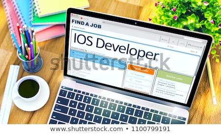 weboldal · fejlesztő · új · interfész · internet · férfi - stock fotó © tashatuvango